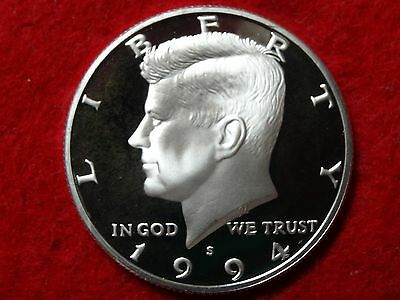 1994 S Kennedy Proof 90% Silver Deep Frosty Cameo Gem Half Dollar  #22R