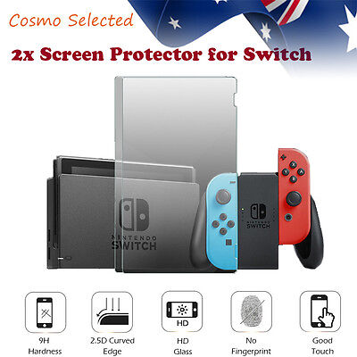 2x Nintendo Switch Screen Protector! 9H Hardness TPU Glass CurveEdge Cut! Clear