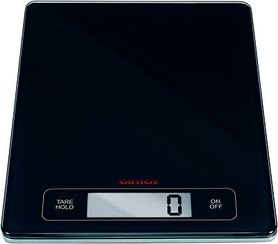 New Soehnle Page Profi Digital Electronic Kitchen Food Scale 15Kg Black/glass