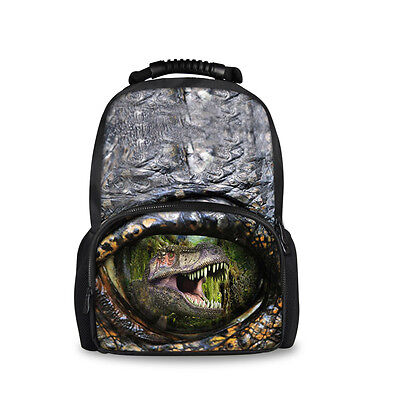 Fashion Designer Dinosaur Backpacks Satchel Rucksack School Work Bag Bookbag New
