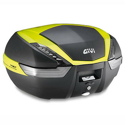 V47Nntfl Givi Top Case Motorcycle Monokey V47 Tech With Yellow Cover Painted