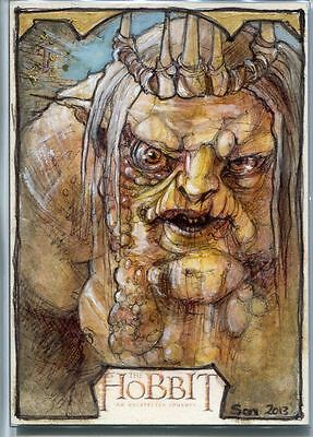 The Hobbit An Unexpected Journey Sketch Card By Soni Alcorn Hender