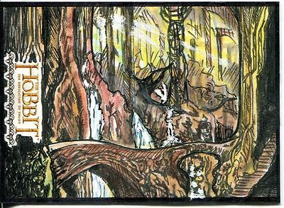 The Hobbit Desolation Of Smaug Hand Drawn Sketch Card By Clay Sayre