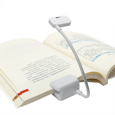 For Reader Kindle eBook Reader LED Book Light Reading Lamp Flexible Clip-on Book