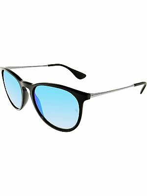 Ray-Ban Women's Mirrored Erika RB4171-601/55-54 Black Round Sunglasses