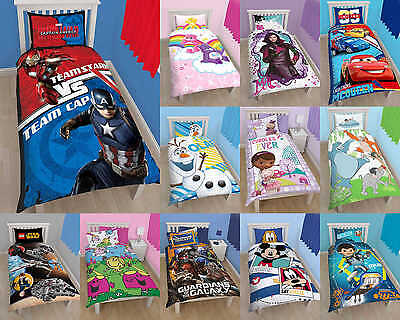 Reversible Boys Girls Single Duvet Cover Quilt Cover Bedding Set Pillow Emoji