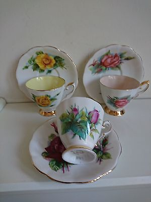 Royal Standard Harry Wheatcroft Roses Cups&saucers X3 Rendezvous&mme Ch Savage