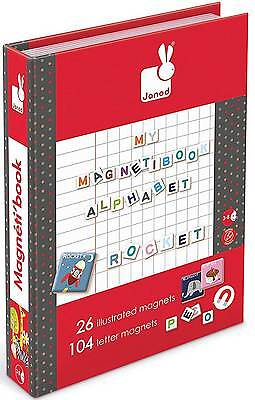 Janod MY MAGNETIBOOK ALPHABET Magnetic Letter Reading Book Child Toy/Gift BN