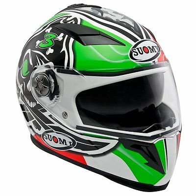 Suomy Halo Biaggi Replica Full Face Motorcycle Crash Helmet