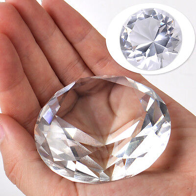 60mm Crystal Diamond Clear Cut Glass Large Giant Diamond Wedding Gifts Jewel