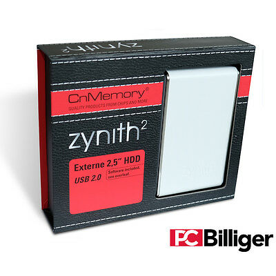 "CnMemory Zynith Memory Drive externe Festplatte HDD 2,5"" 2,5 Zoll 80 GB"