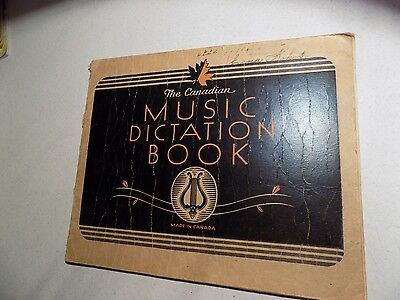 Vintage Paper Collectables Scribbler Notebook Used Music Dictation Book Canadian