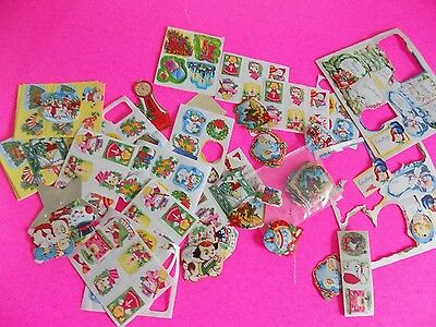 Vintage Lot of Seals Stamps Christmas Baby and Other