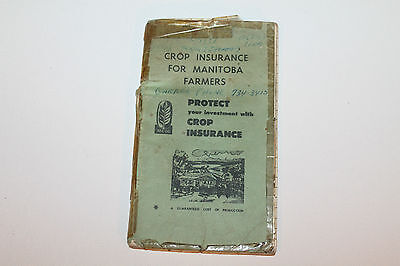 Vintage Booklet Used Notebook Crop Insurance Manitoba Farmers 1969 #2