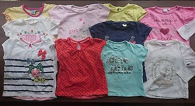 10 Girls T-shirts and Tops 12-18 Months