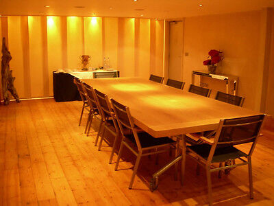 Bespoke large contemporary Solid Oak Boardroom Conference Dinner Work table