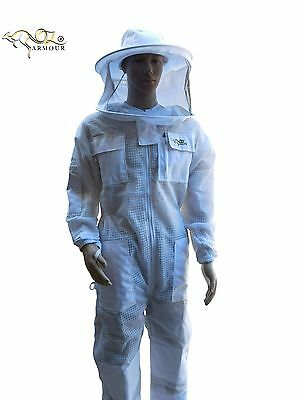 "Beekeeping Suit ""oz Armour"" Ventilated Three Layer Mesh Ultra Cool Hat Veil"