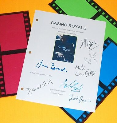 Casino Royale Signed Script James Bond Rpt Daniel Craig  Eva Green  Judi Dench