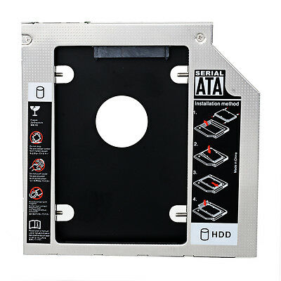 NEW SATA 2nd HDD SSD caddy adapter for Laptops 9.5mm Optical Hard Drive Bay