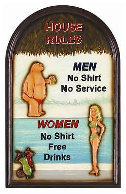 Funny Framed Swimming Pool Sign w House Rules [ID 13583]