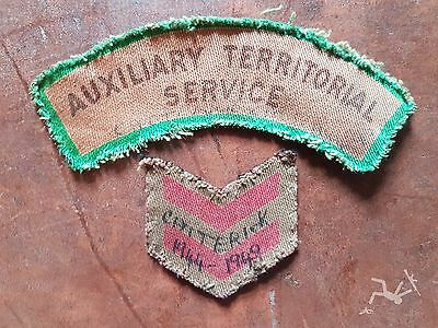 "badge, unit, arm title, British, ATS   - WW2 printed shoulder ""Catterick Camp"""