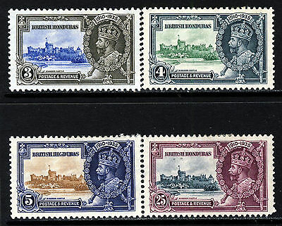 BRITISH HONDURAS KG V 1935 The Complete Silver Jubilee Set SG 143 to SG 146 MINT