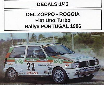 Decal #210 1/43 Fiat Uno Turbo #22 Rally del Portogallo 1986 Fiorio-Pirollo