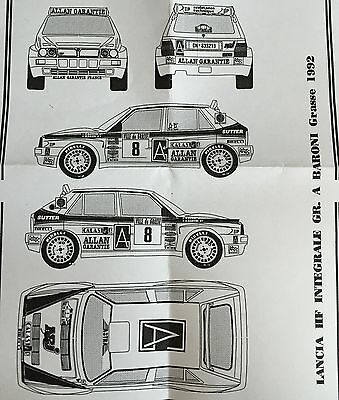 Decal #167 1/43 Lancia Delta Integrale HF #8 GR.A Rally Grasse 1992 Baroni-David