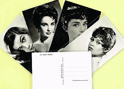 Editions du Globe - 1950s Film Star Postcards issued in France List #2