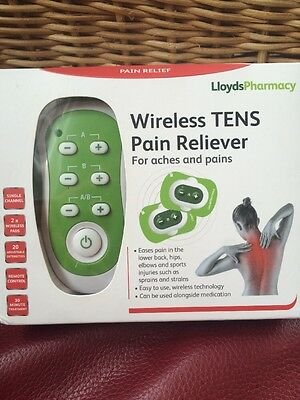 Wireless Tens Pain Reliever 2x Wireless Pads With Remote Control New Lloyds