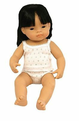 Anatomically Correct Baby Doll 38cm Asian Girl - Miniland