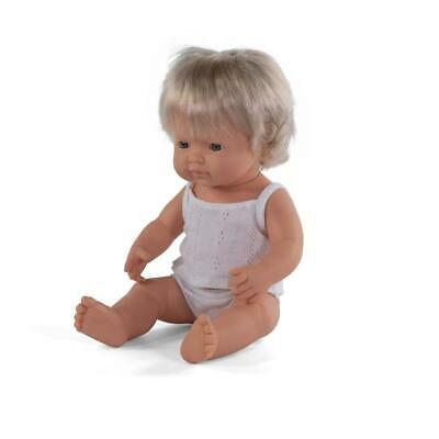Anatomically Correct Baby Doll 38cm Caucasian Girl - Miniland