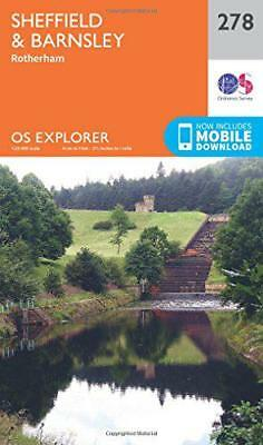 OS Explorer Map (278) Sheffield and Barnsley by Ordnance Survey | Map Book | 978