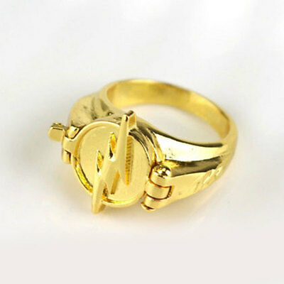 The Flash Flash Rings Gold Plated Cosplay Props Unisex Ring Jewellery Gift