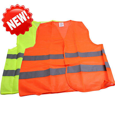 2 Pockets Green Safety Mesh Vest with Reflective Strips For Airport Rescue