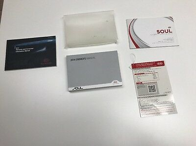Kia Soul  2014 Owner  Manual Books. / Free Shipping. Plastic Pounch