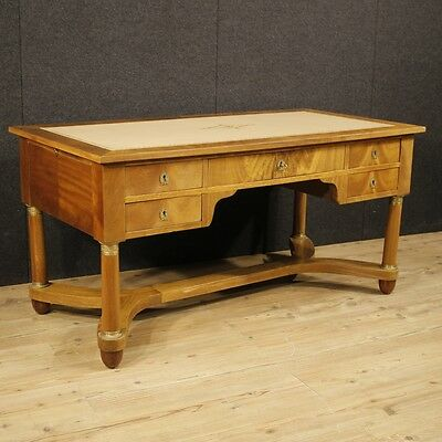 Writing desk table antique style Empire furniture wood antiques 900