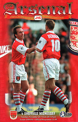 1995/96 Arsenal v Sheffield Wednesday, Premier League, PERFECT CONDITION