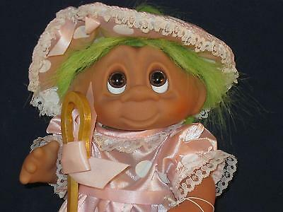 """7 3/4"""" 1993 Storybook Collection Norfin Green Haired Bo-Peep W/staff & Tag U359"""