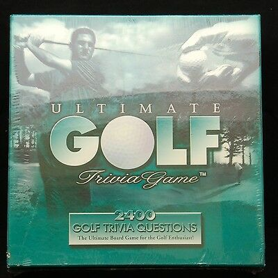 New Vintage 1997 Ultimate Golf Trivia Board Game 2400 Fun Questions for Golfers