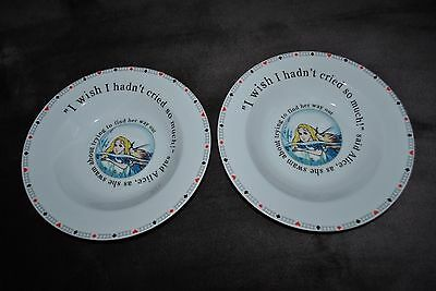 NEW PAUL CARDEW Alice in WONDERLAND SET/2 SOUP BOWL/PLATE Designed ENGLAND 8.5""