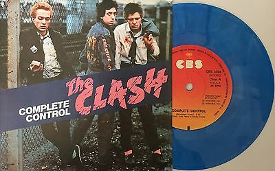 "The Clash Complete Control BLUE COLOURED VINYL 7"" 45 Spanish Repro Joe Strummer"