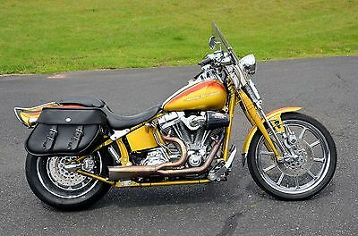 2007 Harley-Davidson Softail  2007 Amarillo Gold Harley Screamin' Eagle CVO Softail Springer FXSTSSE w/ Extras