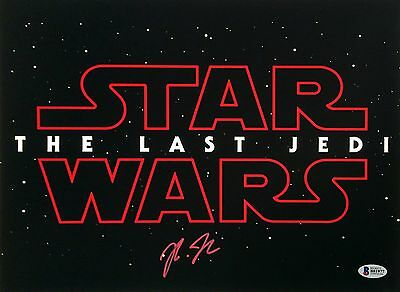 Rian Johnson Signed Star Wars The Last Jedi Movie Poster 11x14 BAS B81977