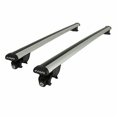Farad Roof Bars VW Passat B8 Estate 15-17 Closed Rails Aluminium Aero Lockable