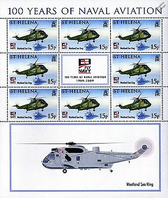 Westland SEA KING Helicopter Aircraft Stamp Sheet /100 Years Naval Aviation 2009