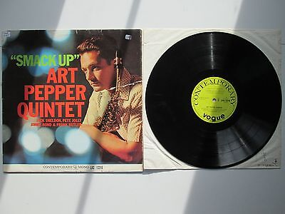 Art Pepper Quintet - 'Smack Up' Original UK Contemporary LAC 12316 Mono LP EX,EX