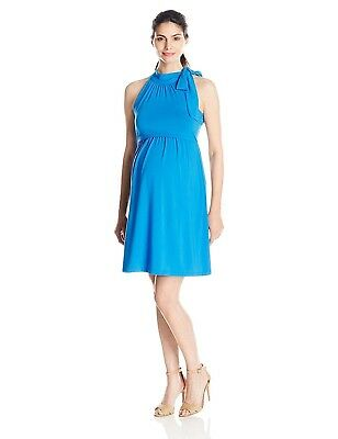 Dote Womens Maternity and Nursing Cheryl Dress Royal Blue Size Small - NWT