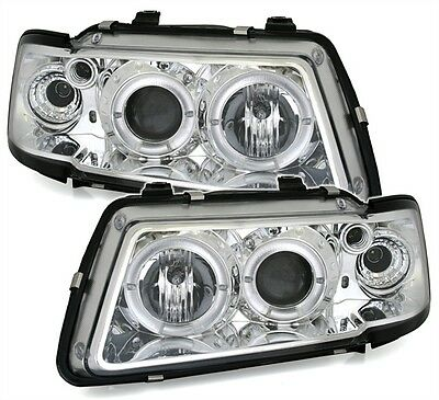 Angel Eyes Scheinwerfer Set in Chrom für AUDI A3 8L 8/96-8/00 oneBlock Blinker