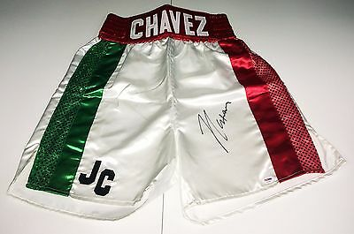 Julio Cesar Chavez Signed Mexico Boxing Trunks/Shorts  PSA/DNA Cert # AA28463